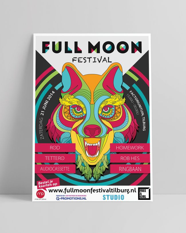 Full Moon 2014 Festival flyer