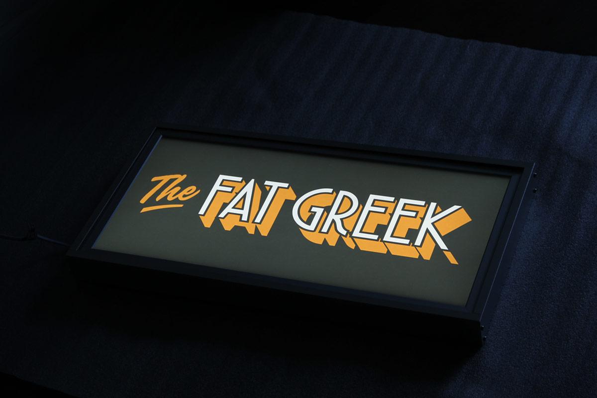 Lichtbak The Fat Greek Tilburg